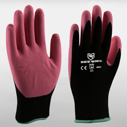13 Gauge Foam Latex Coated Gloves