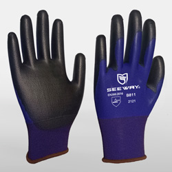 18 Gauge PU Coated Nylon Gloves