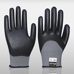 3/4 Foam Nitrile Coated Gloves