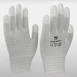 Fingertips Coated ESD Gloves with Stripes