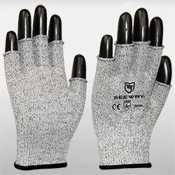 Fingerless HPPE Cut-Resistant Gloves