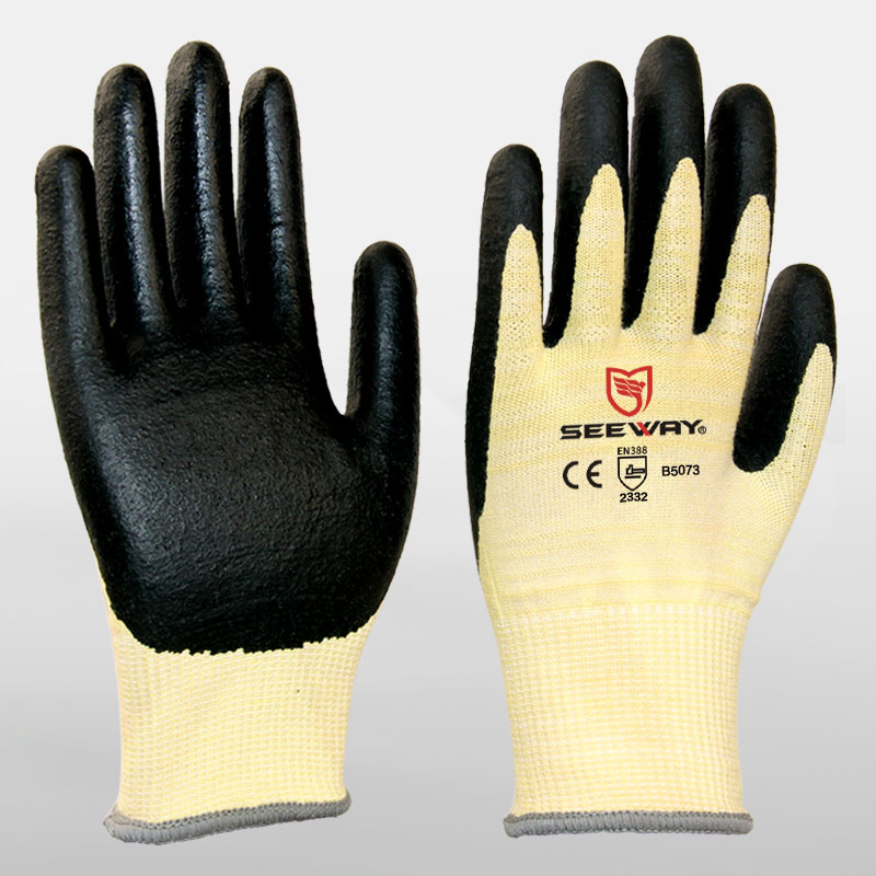 Foam Nitrile Coated Aramid Cut Resistant Gloves
