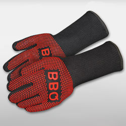 Heat protective BBQ gloves