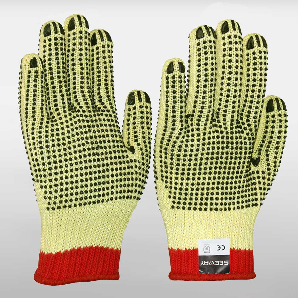 Aramid Double-side PVC Dotted Gloves
