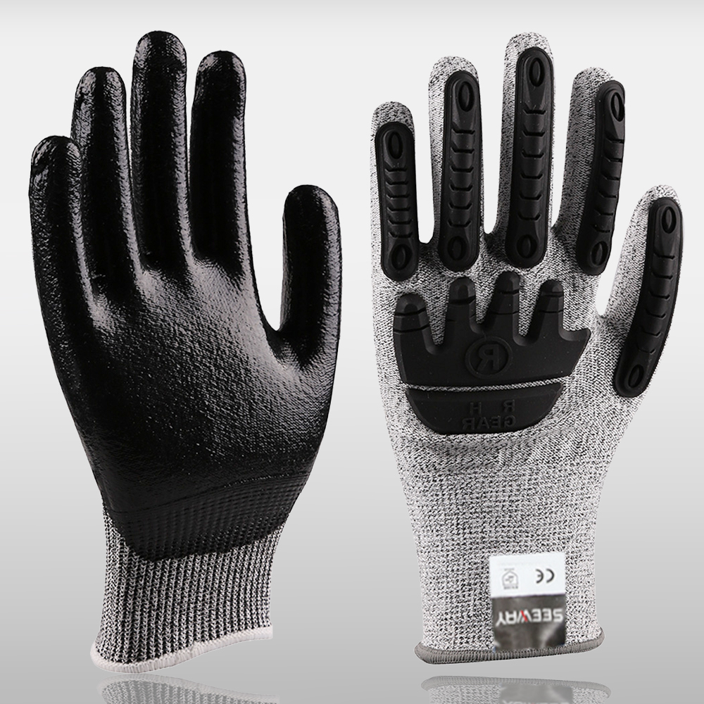 HHPE Cut-Resistant Gloves With TPR Back