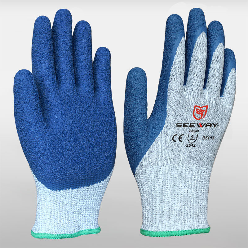 HPPE Cut Resistant Gloves With Latex Palm Coating