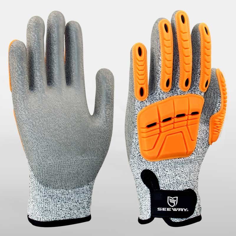 HHPE Cut-Resistant Gloves TPR Impact Protection Gloves