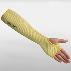 Aramid Cut-Resistant Sleeves with half palm(thumb out design)