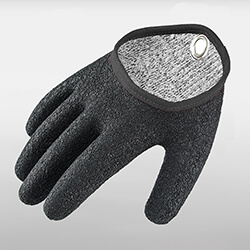 HPPE Cut-Resistant Fishing Gloves With Latex Full Coating<br />