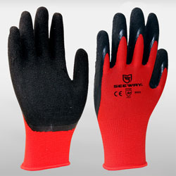 13 Gauge Sandy Latex Dipped Gloves