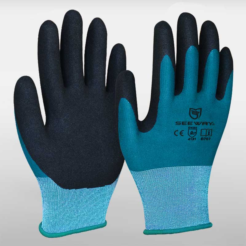 13 Gauge Sandy Nitrile Coated Gloves