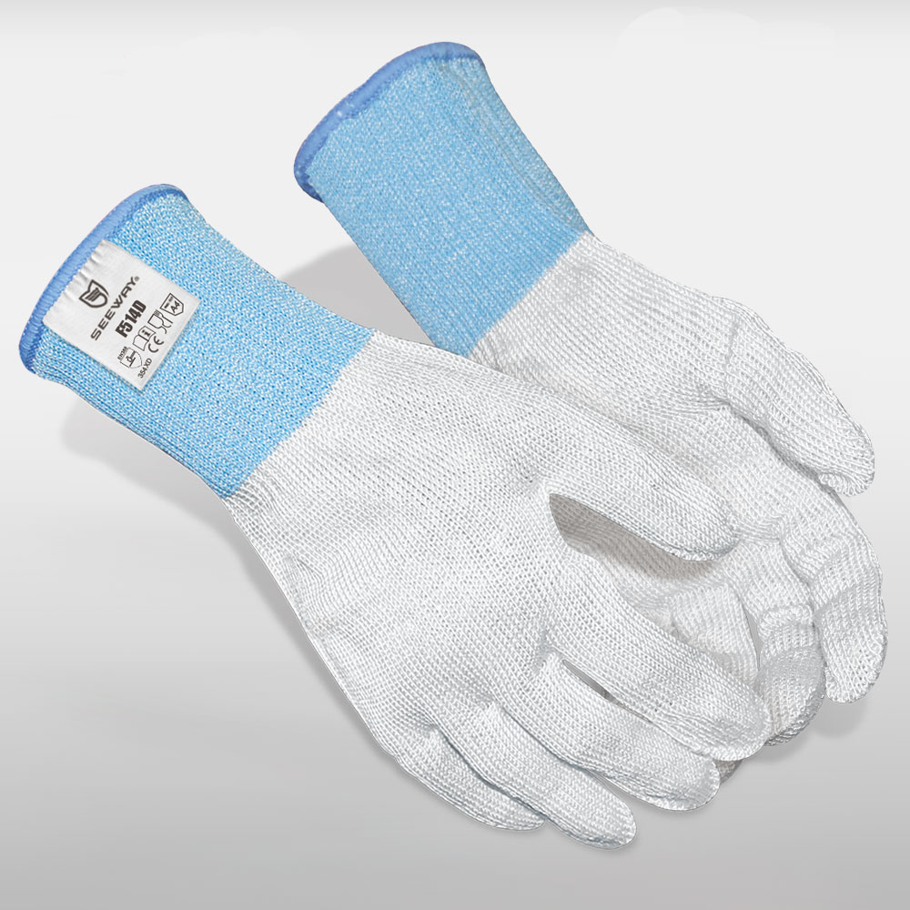Cut Level 5 Gloves With Blue Cuff<br />