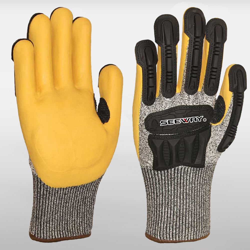 Heavy Duty TPR Impact Resistant Mechanic Gloves