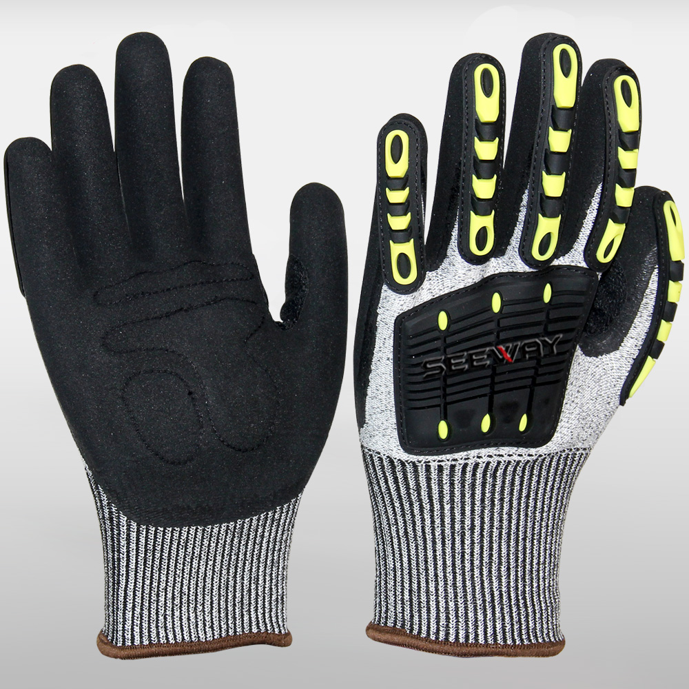Motorbike TPR Impact Resistant Mechanic Gloves
