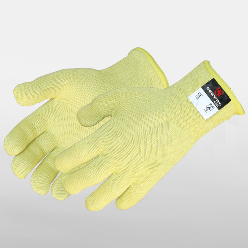 2 Ply Knit Gloves Heat Resistant