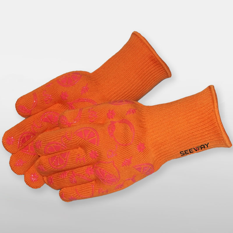 Silicone Heat Resistant BBQ Grill Gloves<br />