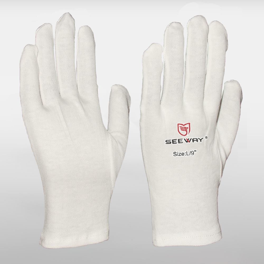 Cleanroom Cotton White Etiquette Gloves