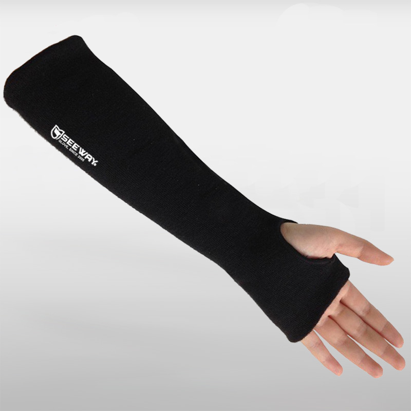 Black Aramid Anti Cut Fireproof Sleeve Arm Protection with Thumb