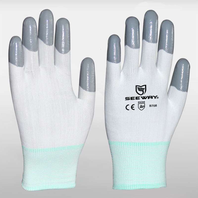 Nitrile Top Coated Gloves