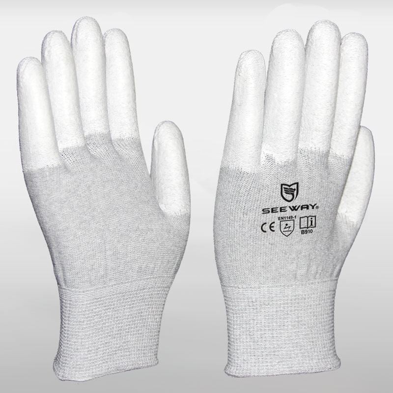 Carbon Fiber Gloves with PU Dipped Fingers
