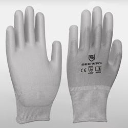 Grey Palm PU Coated Gloves<br />