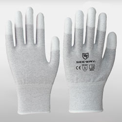 <span>Fingertip Coated </span>ESD Gloves