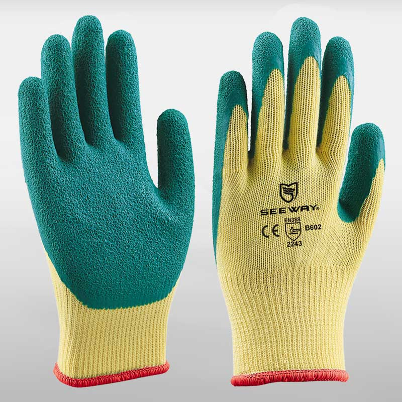 10 Gauge Cotton Latex Coated Gloves