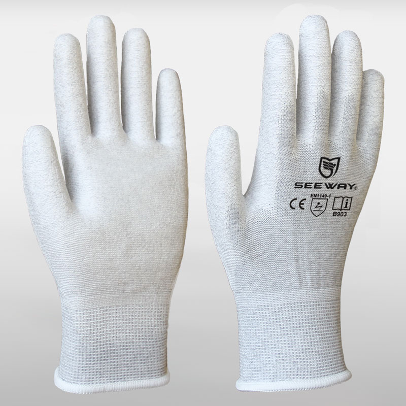 Palm Coated ESD Gloves