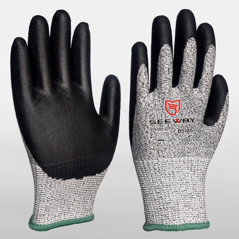 HPPE Foam Nitrile Cut Level 5 Gloves