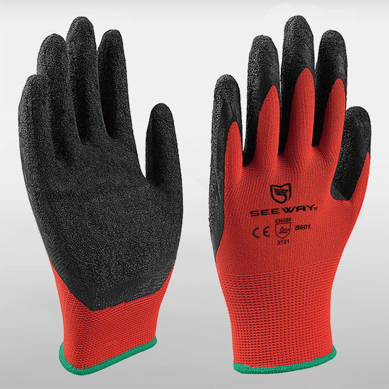 13 Gauge Nylon Latex Coated Gloves