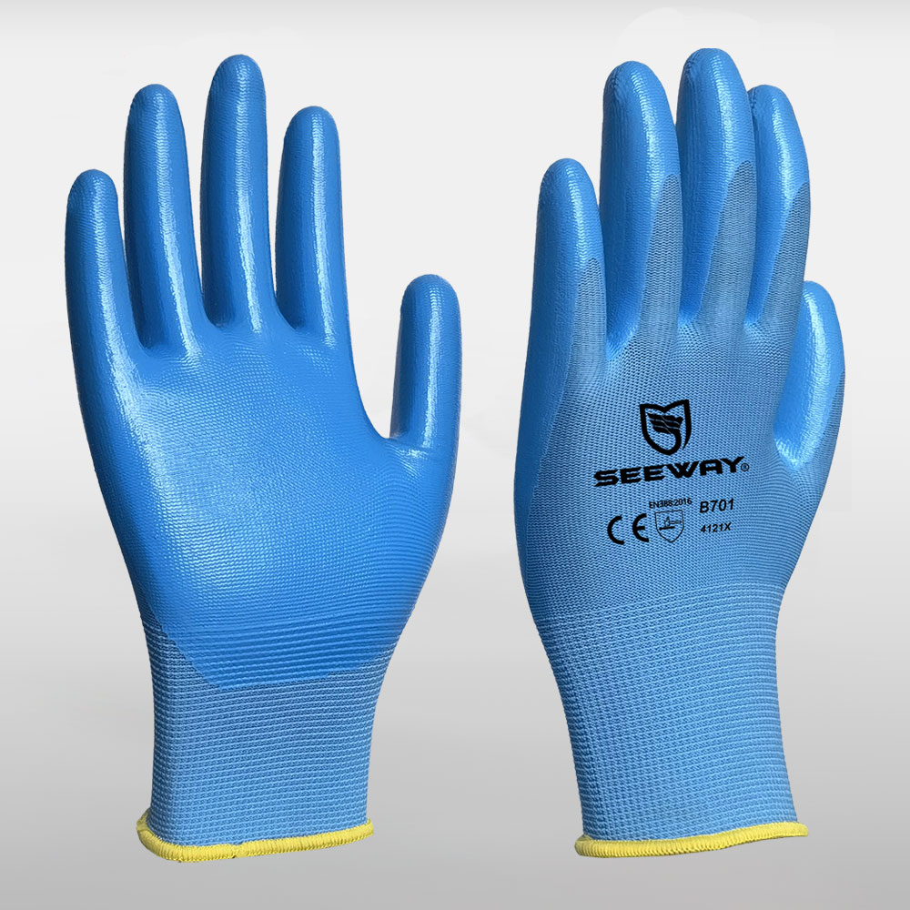 13 Gauge Nitrile Coated Gloves