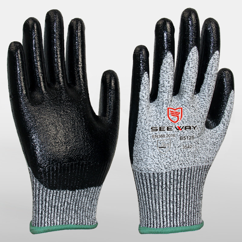 Cut Resistant Gloves With Nitrile Palms