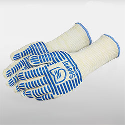 Flame-Resistant Oven Gloves with Fingers
