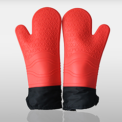 Silicone Oven Mitts extra long cotton lining